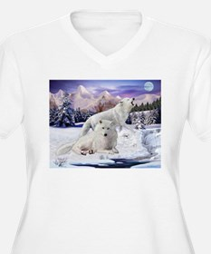Snow Wolves Of The Wild Plus Size T-Shirt