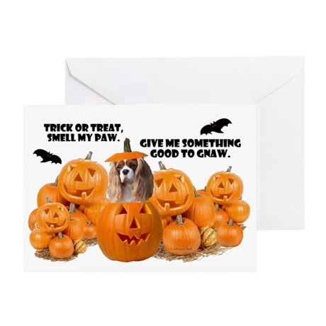 Trick Or Treat (Cavalier) Greeting Card