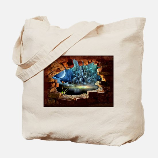Hole in the Wall Graffiti Tote Bag