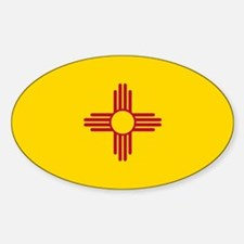 New Mexico State F lag Decal