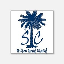 "Hilton Head Island Square Sticker 3"" x 3"""