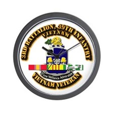 36th Infantry - 9th Infantry ID Wall Clock
