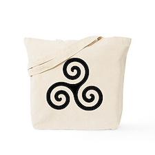 Triskele Symbol (Triple Spiral) Tote Bag