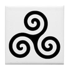 Triskele Symbol (Triple Spiral) Tile Coaster