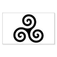 Triskele Symbol (Triple Spiral) Sticker (Rectangul