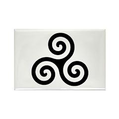 Triskele Symbol (Triple Spiral) Rectangle Magnet (