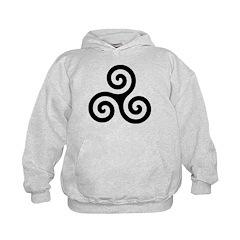 Triskele Symbol (Triple Spiral) Hoodie