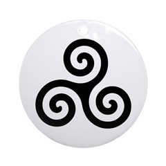 Triskele Symbol (Triple Spiral) Ornament (Round)