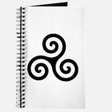 Triskele Symbol (Triple Spiral) Journal