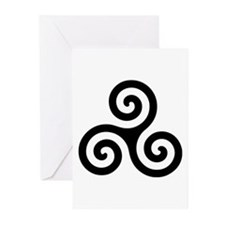 Triskele Symbol (Triple Spiral) Greeting Cards (Pk