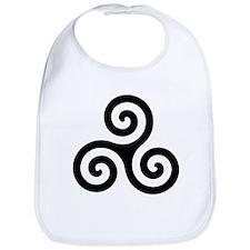 Triskele Symbol (Triple Spiral) Bib