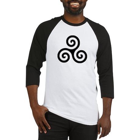 Triskele Symbol (Triple Spiral) Baseball Jersey