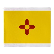 New Mexico State F|lag Throw Blanket