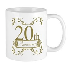 20th Wedding Anniversary Small Mugs
