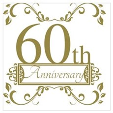 60th Wedding Anniversary Framed Print