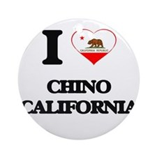 I love Chino California Ornament (Round)