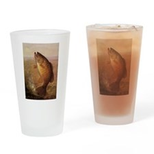 Vintage Largemouth Brown Bass Fish Drinking Glass