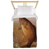 Fishing on the river Twin Duvet Covers