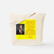 rand paul quote Tote Bag
