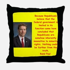 rand paul quote Throw Pillow