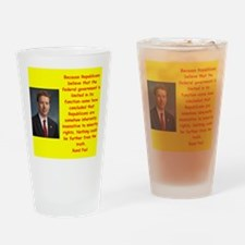 rand paul quote Drinking Glass