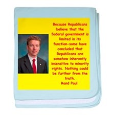 rand paul quote baby blanket