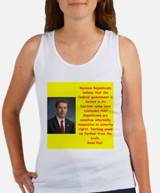 rand paul quote Tank Top