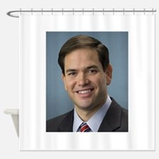 marco rubio portrait Shower Curtain