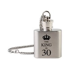 The King Is 30 Flask Necklace