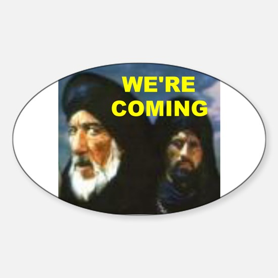 MUSLIMS COMING Oval Decal