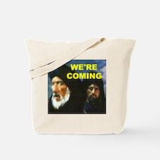 MUSLIMS COMING Tote Bag