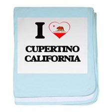 I love Cupertino California baby blanket