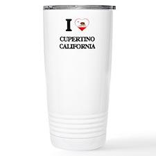 I love Cupertino Califo Travel Coffee Mug