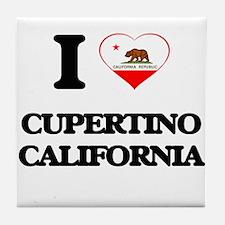 I love Cupertino California Tile Coaster