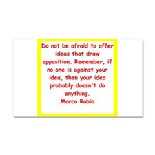 marco rubio quote Car Magnet 20 x 12