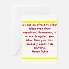 marco rubio quote Greeting Cards