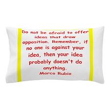 marco rubio quote Pillow Case