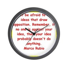 marco rubio quote Wall Clock