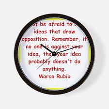 marco rubio quote Wall Clock