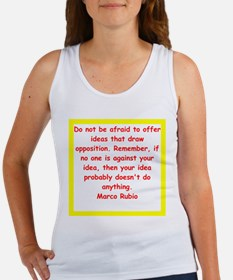 marco rubio quote Tank Top
