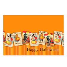 TLK020 Halloween Borders Postcards (Package of 8)