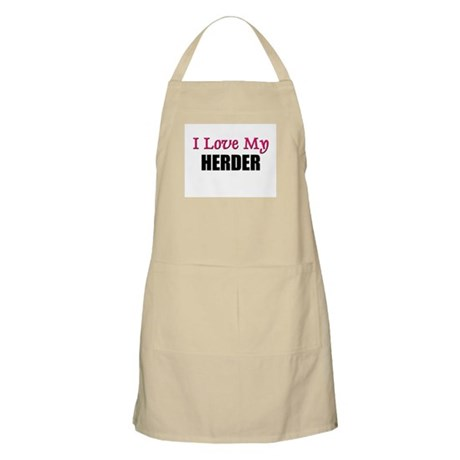 I Love My HERDER BBQ Apron