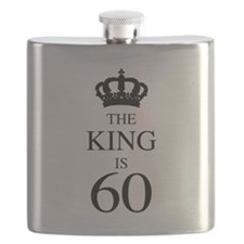 The King Is 60 Flask