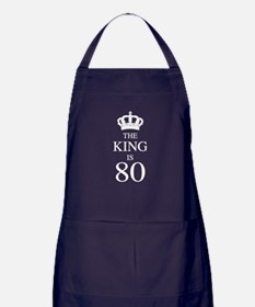 The King Is 80 Apron (dark)