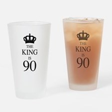 The King Is 90 Drinking Glass