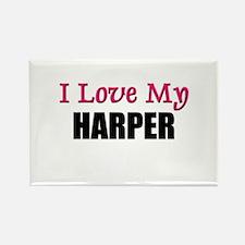 I Love My HARPER Rectangle Magnet
