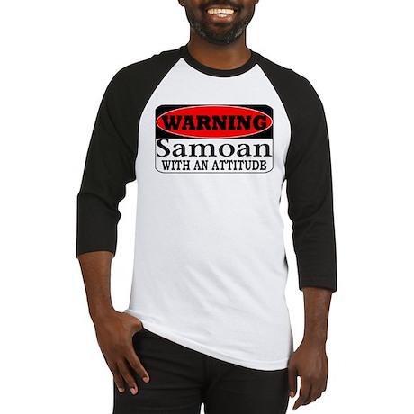 Warning! Samoan w/ an Attitud Baseball Jersey