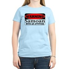 Warning! Samoan w/ an Attitud T-Shirt
