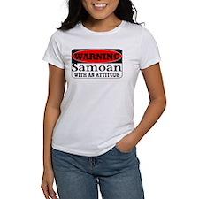 Warning! Samoan w/ an Attitud Tee