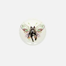 Pit Bull Butterfly Art Mini Button (100 pack)